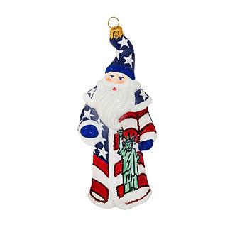 Land of the Free Santa Ornament