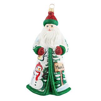 Main Street Christmas USA Santa Ornament