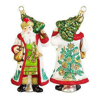 First Christmas Tree Estonian Santa Ornament