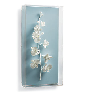 White Orchid Wall Art IV