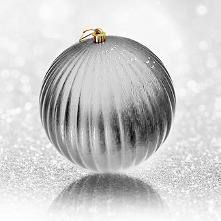 Outdoor Vertical Stripe Oversized Ball Ornament