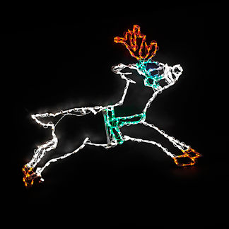 LED Reindeer Leaping