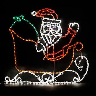 LED Santa in Sleigh