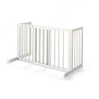 Freestanding Pet Barrier in Antique White