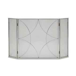 Diamond Triple Panel Fireplace Screen