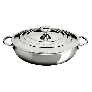 Le Creuset Tri-ply Stainless Steel 5-qt. Braiser with Lid