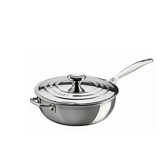 Le Creuset 3.5-qt. Stainless Steel Saucier Pan with Lid