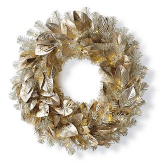 Platinum Magnolia Cordless Wreath