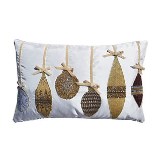 Gilded Soiree Ornaments Lumbar Pillow