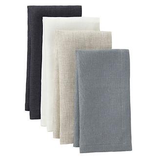 Pure Square Linen Napkins, Set of Four