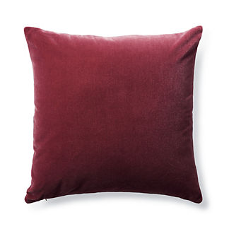 Raspberry Bach Mohair Decorative Pillow