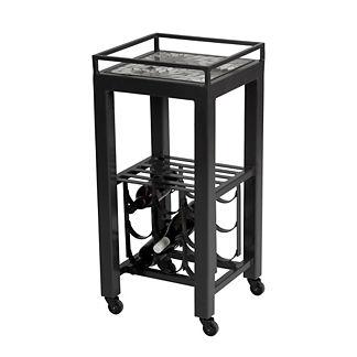 Hayden Lagoon Modern Wine Cart Table