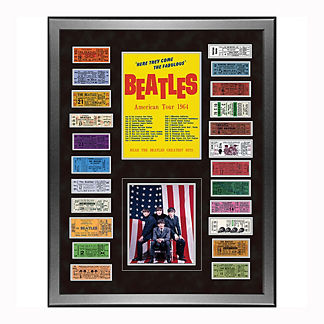 The Beatles American Tour Framed 1964 Ticket Collage