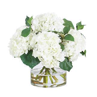 White Hydrangea Vase