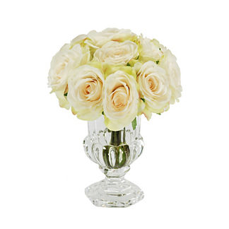 Rose Mini Glass Urn