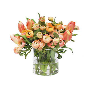 Ranunculus and Tulip in Vase