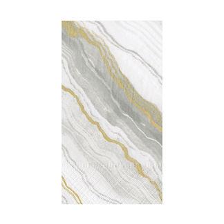 Caspari Grey Marble Guest Towels