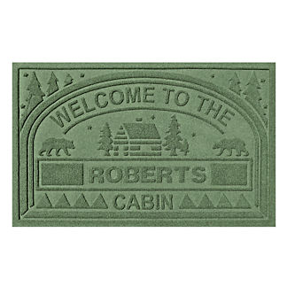 Water & Dirt Shield Welcome to the Cabin Personalized Mat
