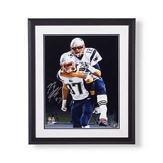 Signed Photo of Rob Gronkowski with Tom Brady