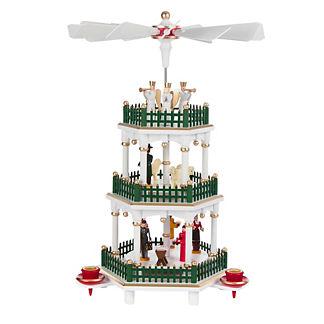 Three-Tier Nativity Christmas Pyramid