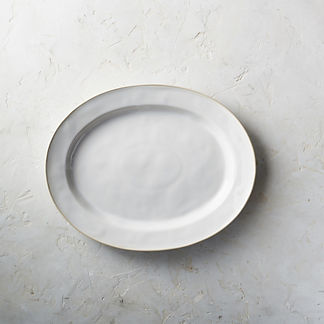 Costa Nova Astoria Oval Serving Platter in White Finish