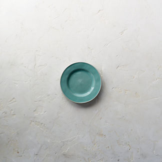 Costa Nova Astoria Bread Plates in Mint Finish, Set of Six