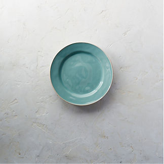 Costa Nova Astoria Salad Plates in Mint Finish, Set of Six