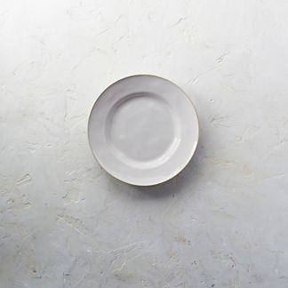 Costa Nova Astoria Salad Plates in White Finish, Set of Six
