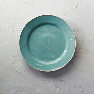 Costa Nova Astoria Dinner Plates in Mint Finish, Set of Six