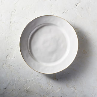 Costa Nova Astoria Dinner Plates in White Finish Set of Six & Outdoor Dinner Plate - Frontgate