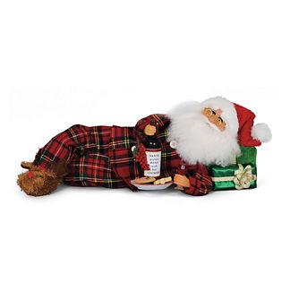 Midnight Snack Santa Figure