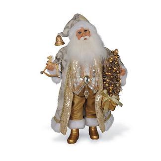 Lighted Golden Glimmer Santa Figure