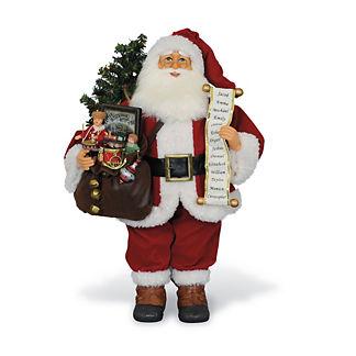 Lighted Vintage Gift Bag Santa Figure