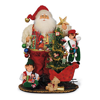 Signature Collection Lighted All the Trimmings Santa Figure
