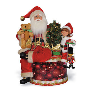 Signature Collection Lighted Traditional Christmas Glow Santa Figure
