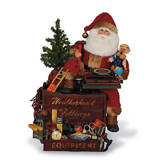 Lighted Tool Box Treasures Santa Figure