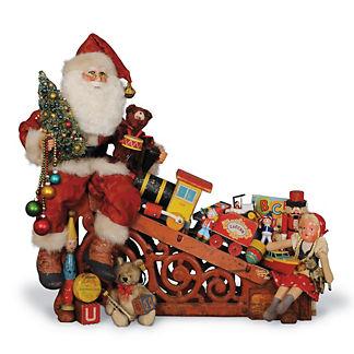 Lighted Toy Train Treasures Santa Figure