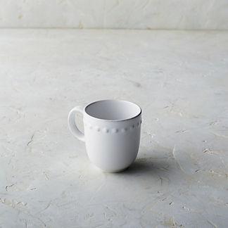 Costa Nova Pearl Mugs in White, Set of Six