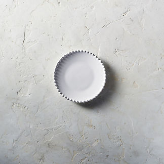 Costa Nova Bread Plates in White, Set of Six