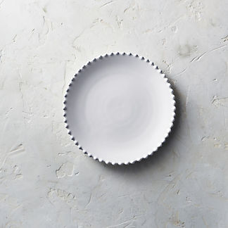 Costa Nova Pearl Salad Plates in White, Set of Six