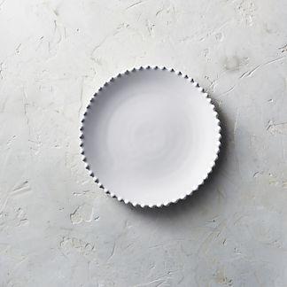 Costa Nova Pearl Salad Plates in White, Set of Six