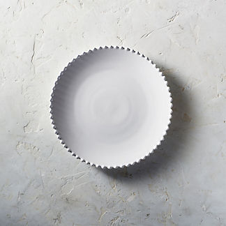Costa Nova Pearl Dinner Plates in White, Set of Six
