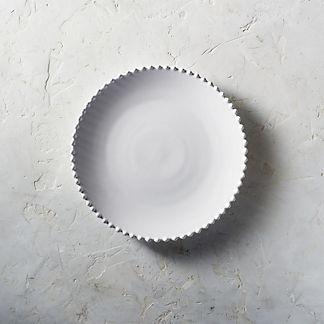 Costa Nova Pearl Dinner Plates in White, Set of Six