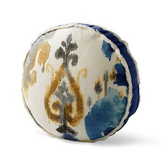 Aoki Azure Tambourine Decorative Pillow