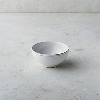 Costa Nova Friso Cereal Bowls in White, Set of Six