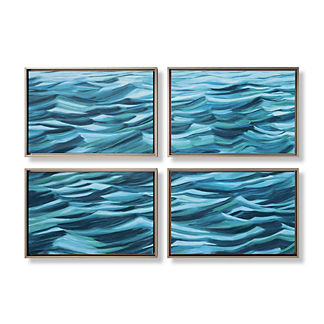 4-piece Waves Wall Art Collection