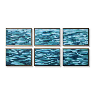 Waves Giclee Prints, Set of Six