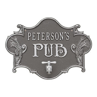 Personalized Pub Wall Plaque