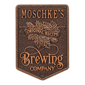 Personalized Brewing Company Wall Plaque