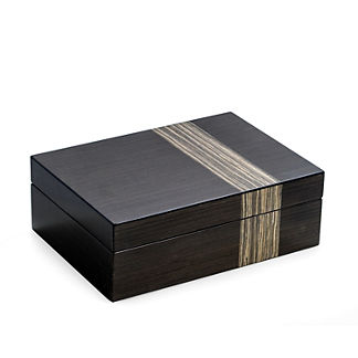Lacquered Ash Wood Valet Box